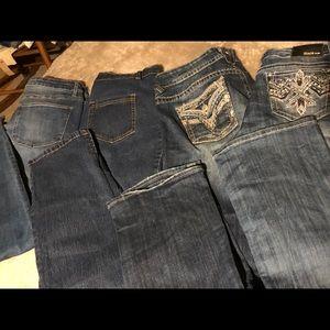 4 pair size (14) jeans